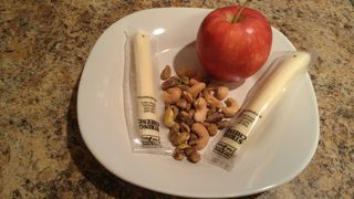 Apple cheese and nuts