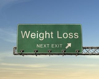 Weight loss exit sign